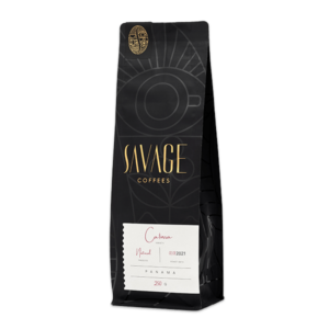 Bag of whole bean caturra coffee